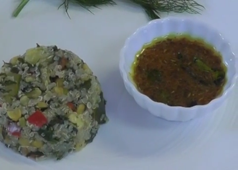 Quinoa Khichdi with Quick Lime Pickle