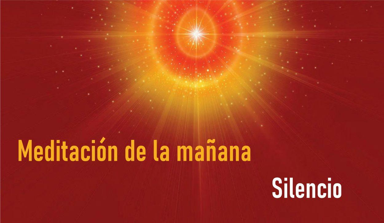 Meditaciòn Guiada de la Mañana:Silencio (20 Abril 2020) On-line desde Madrid