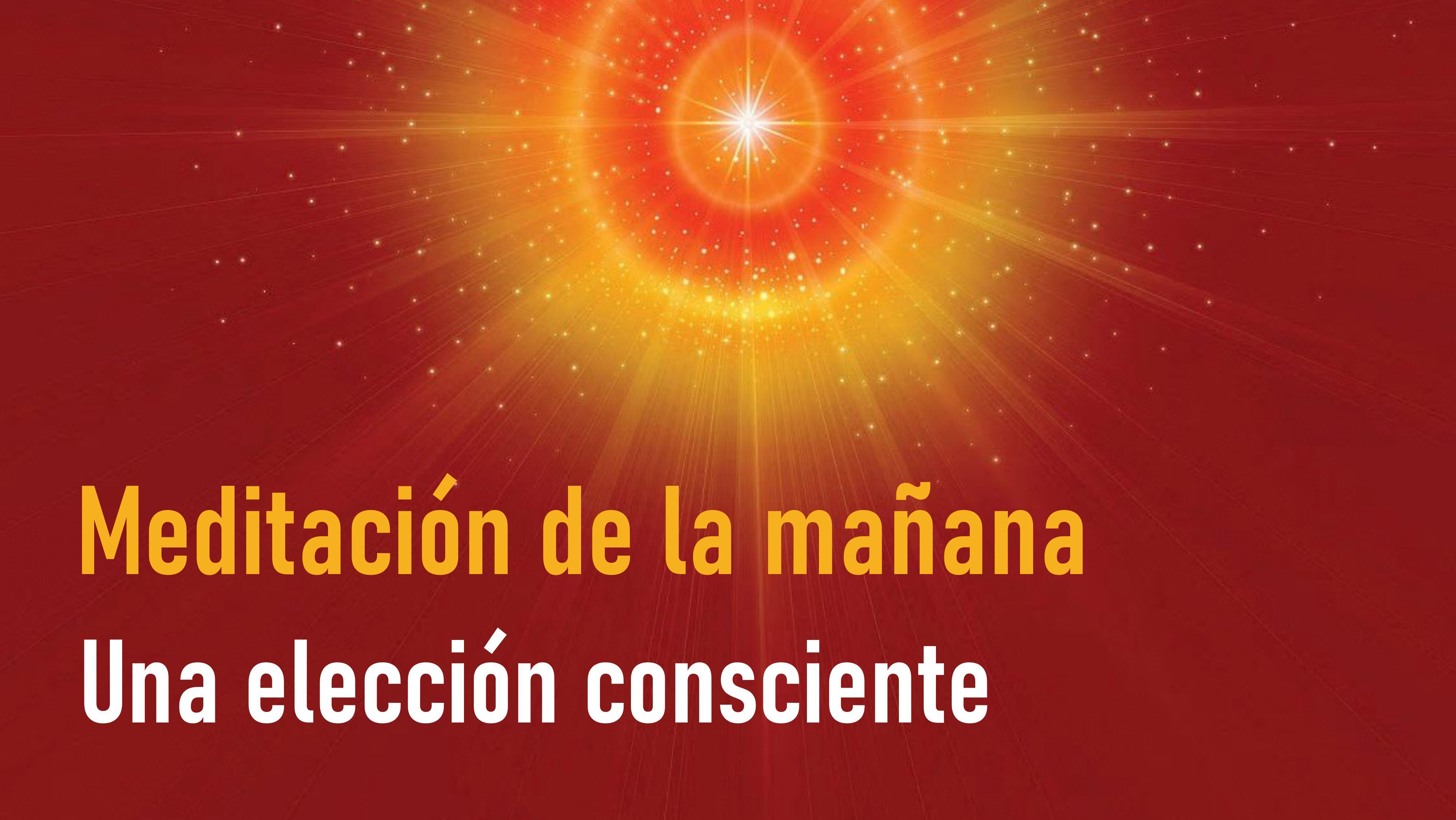 Meditación por la Mañana: Una elección consciente  (3 Junio 2020)