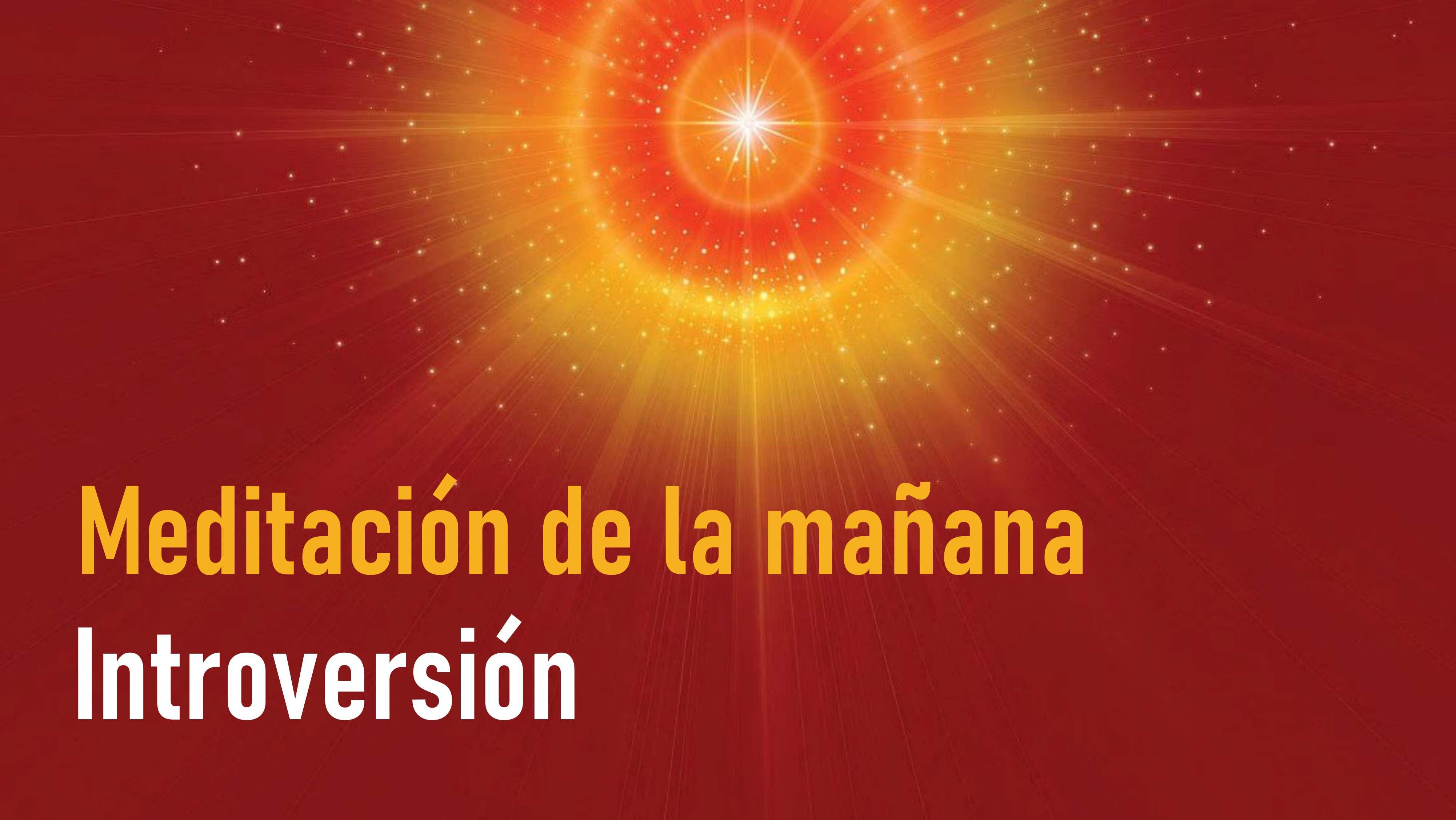 Meditación de la mañana: Introversión (12 Agosto 2020)