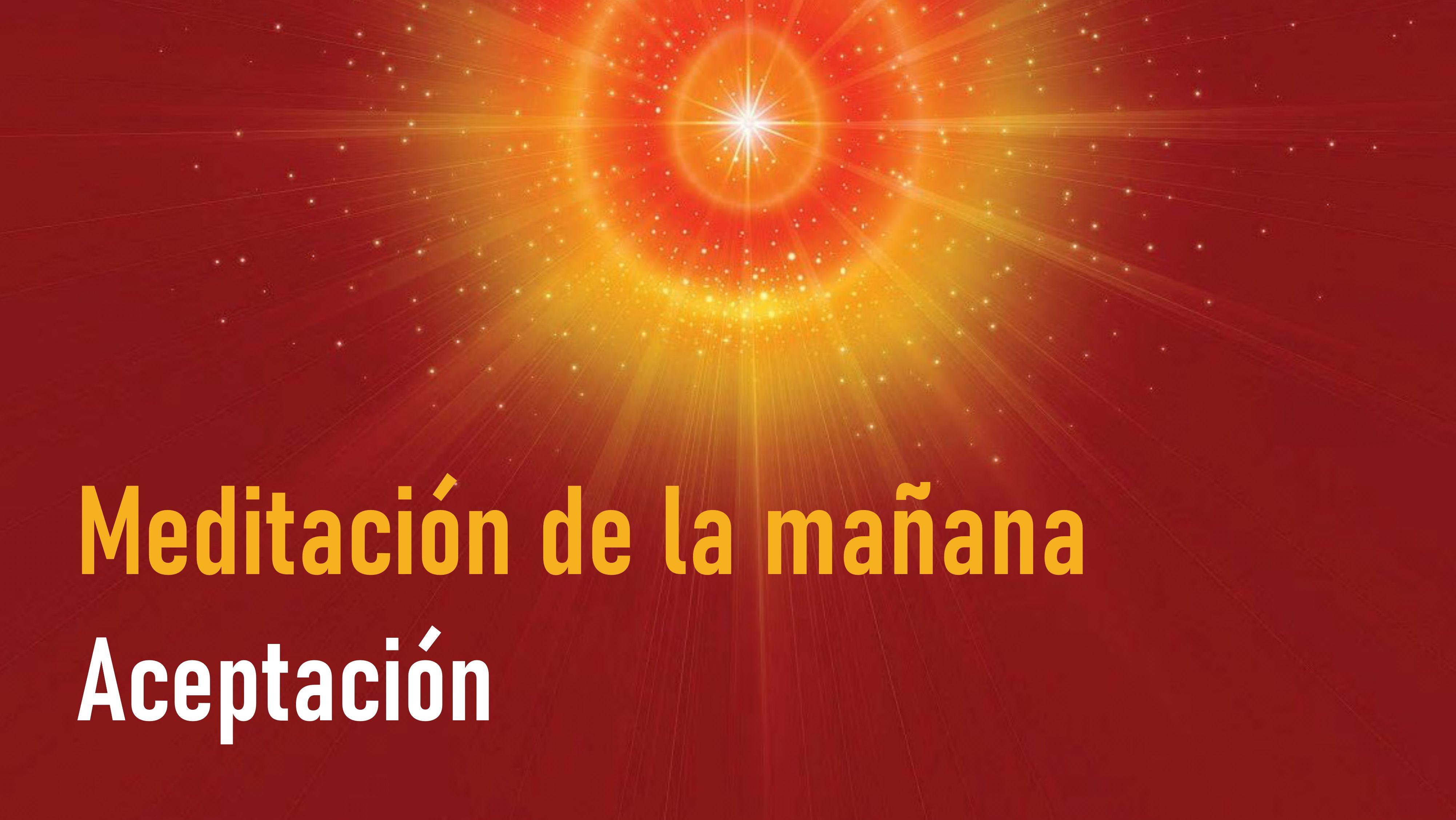Meditación de la Mañana: Aceptación  (8Junio 2020)