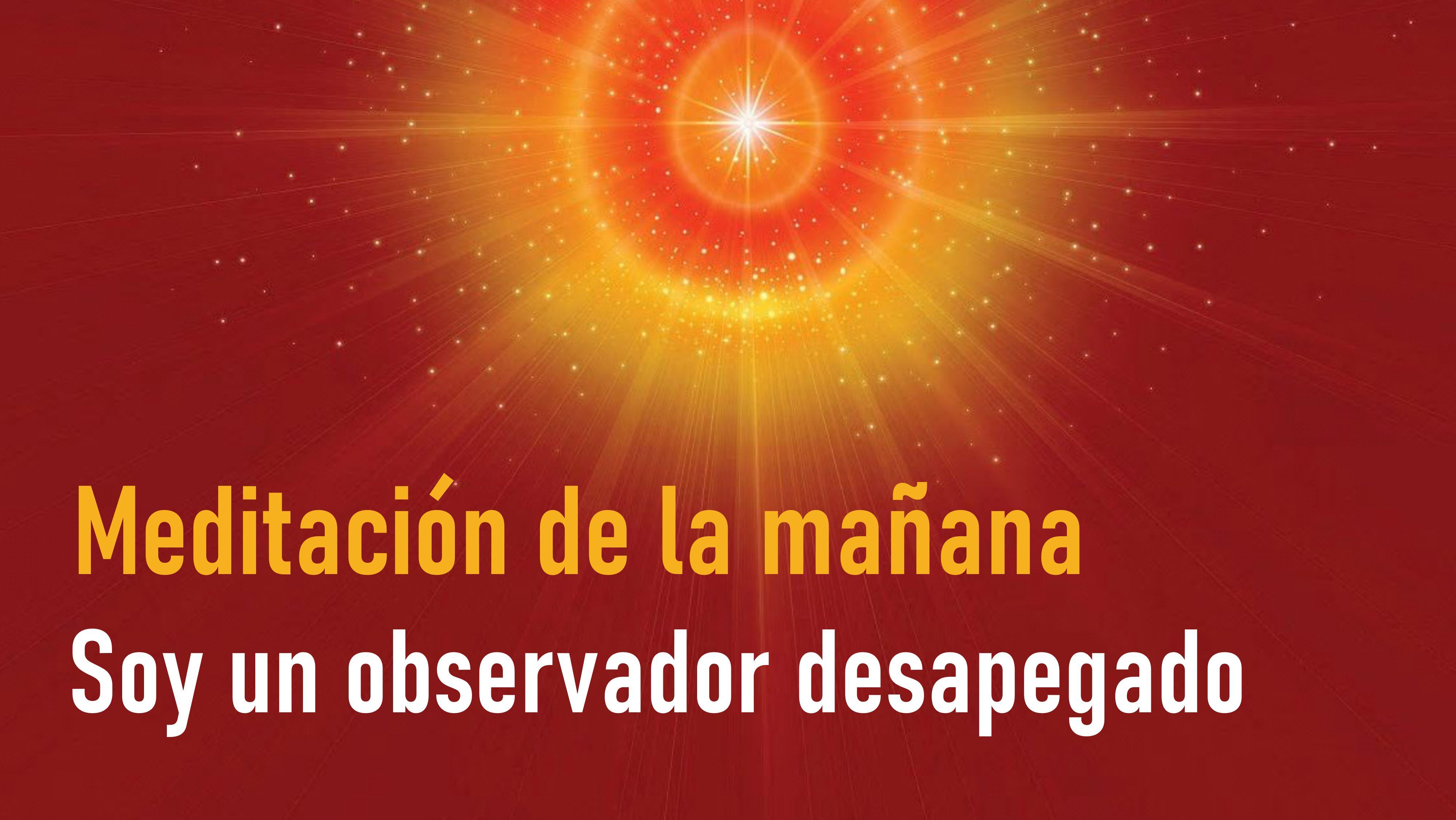 Meditación de la mañana: Soy un observador desapegado (21 Julio 2020)