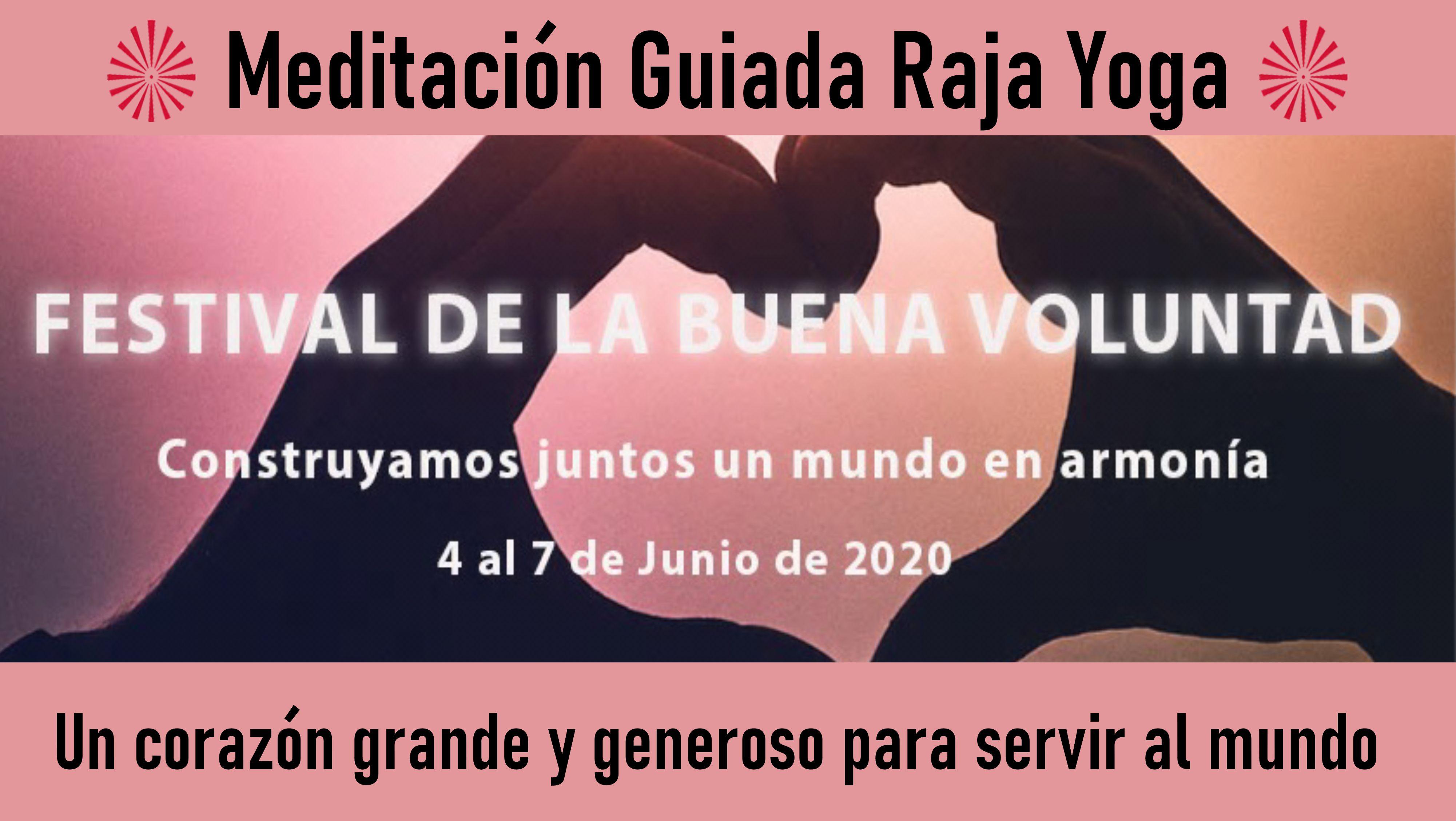 Meditación Raja Yoga: Un corazón grande y generoso para servir al mundo (6 Junio 2020) On-line desde Barcelona