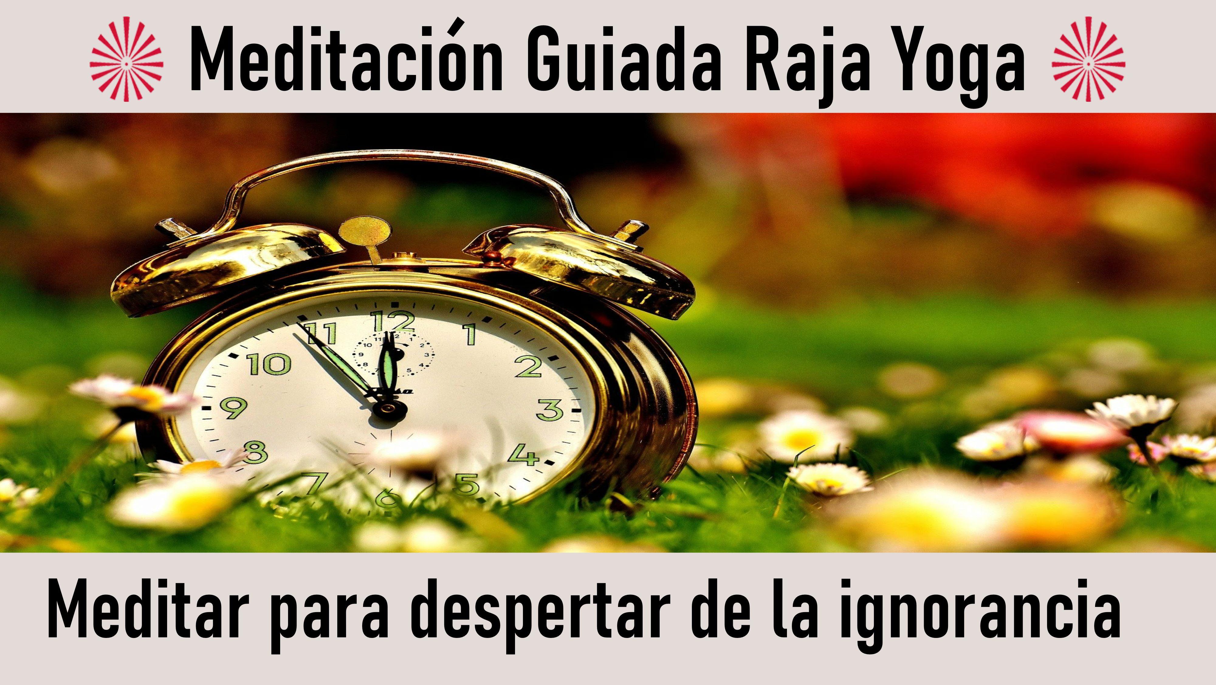 Meditación Raja Yoga: Meditar para despertar de la ignorancia (12 Agosto 2020) On-line desde Sevilla