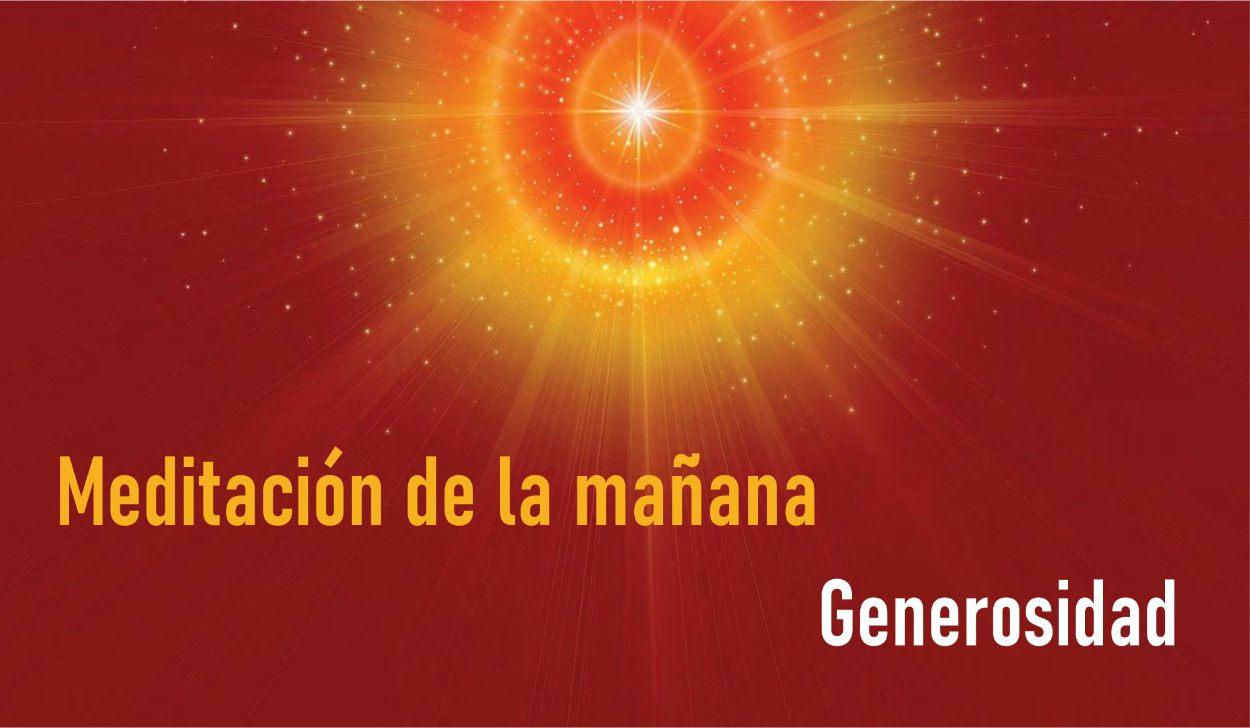 Meditación Guiada de la Mañana:Generosidad (21 Abril 2020) On-line desde Madrid