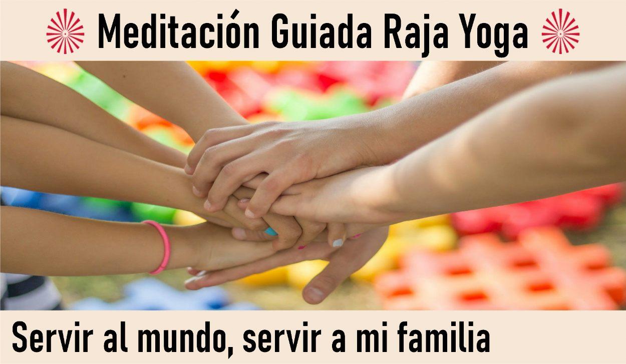 Charla y Meditación.Meditacion Raja Yoga: Servir al mundo, servir a la familia (9 Mayo 2020) On-line desde Valencia